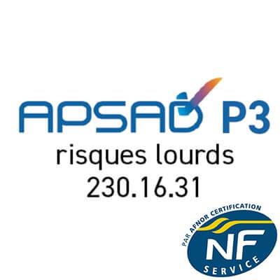 APSAD P3 risques lourds